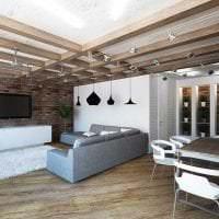 светлый декор квартиры в стиле лофт фото