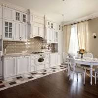 светлый дизайн кухни в стиле прованс фото