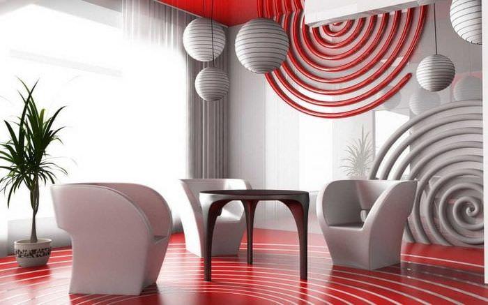 яркий дизайн прихожей в стиле авангард