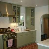 яркий фисташковый цвет в интерьере кухни фото