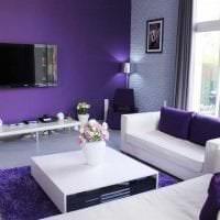 красивый дизайн коридора в фиолетовом цвете фото