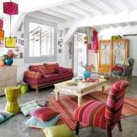 красивый интерьер квартиры в стиле бохо картинка