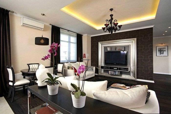 красивый декор спальни в стиле фьюжн