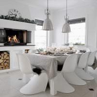 необычный стиль гостиной в шведском стиле картинка