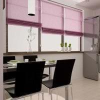 необычный декор прихожей в фиолетовом цвете фото