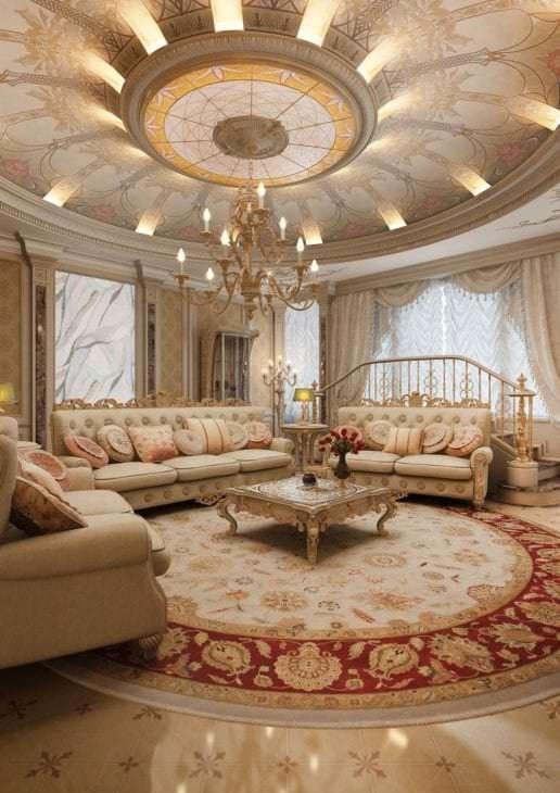 красивый дизайн коридора в стиле барокко