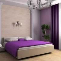 яркий дизайн коридора в фиолетовом цвете фото