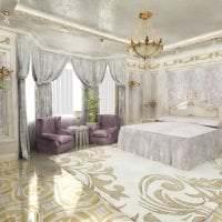 современный интерьер гостиной в стиле рококо фото