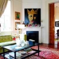 красивый дизайн гостиной в стиле бохо фото