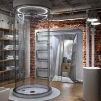 красивый дизайн коридора в стиле лофт фото