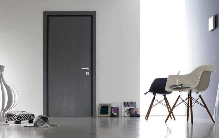 деревянные двери в дизайне комнаты