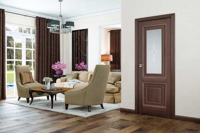 светлые двери в стиле спальни