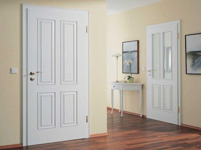 темные двери в декоре квартиры