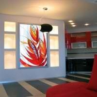 классический витраж в дизайне дома картинка