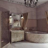 вариант яркой декоративной штукатурки в декоре ванной комнаты картинка