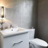 идея красивой декоративной штукатурки в интерьере ванной картинка