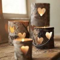 вариант яркого декорирования свечек своими руками фото
