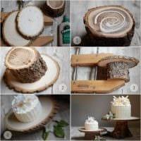 вариант светлого декорирования помещения деревом своими руками картинка