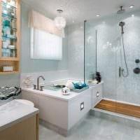 вариант цветной декоративной штукатурки в дизайне ванной комнаты фото