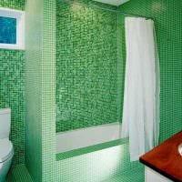 идея яркой декоративной штукатурки в декоре ванной комнаты фото