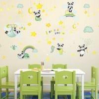 вариант оригинального декорирования детской комнаты картинка