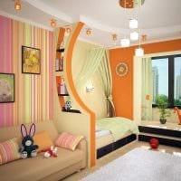 вариант светлого декора детской комнаты картинка