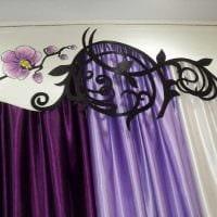 вариант красивого украшения штор своими руками картинка