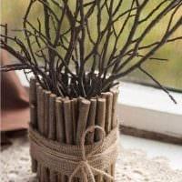 вариант красивого декора помещения деревом своими руками фото