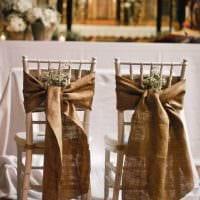 вариант красивого декора стульев картинка