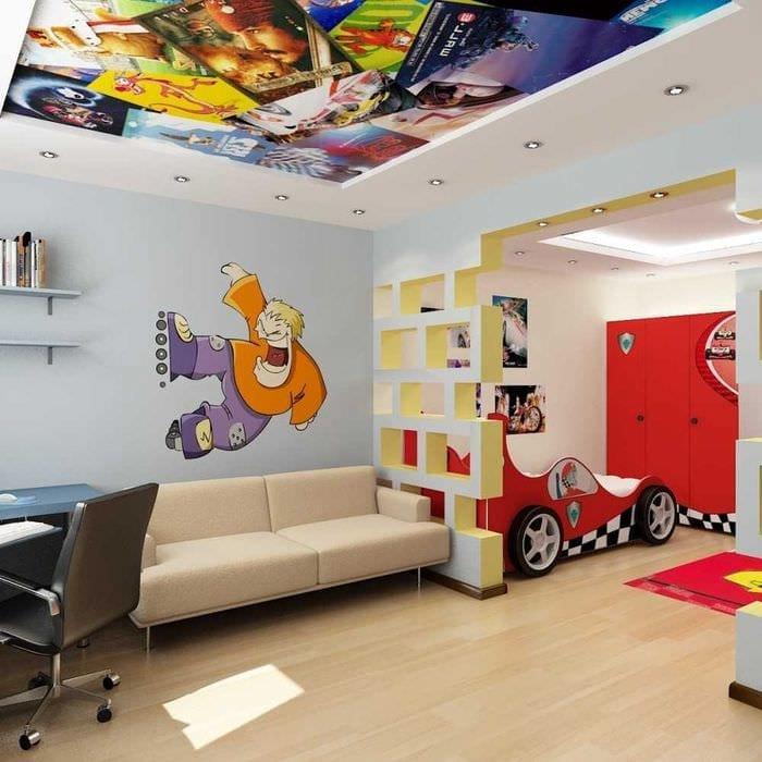 вариант оригинального декорирования детской комнаты