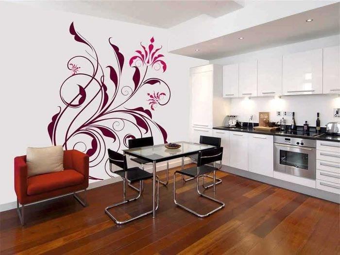 вариант яркого декорирования гостиной своими руками