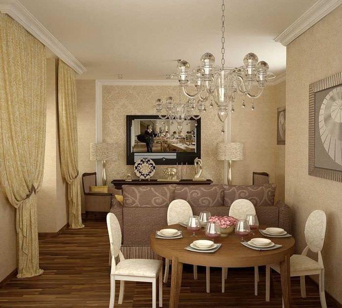 идея шикарного декора гостиной комнаты своими руками