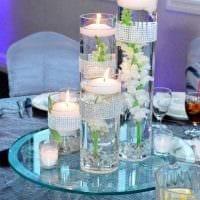 вариант красивого украшения свечек своими руками картинка
