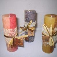 идея яркого декора свечек своими руками картинка