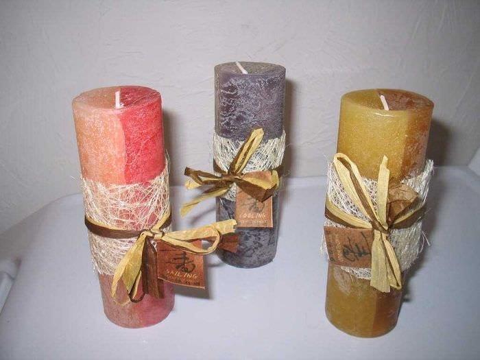 Идеи свечей из воска своими руками 65