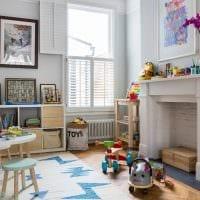 вариант оригинального декора детской комнаты картинка