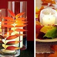 идея светлого декора свечек своими руками картинка