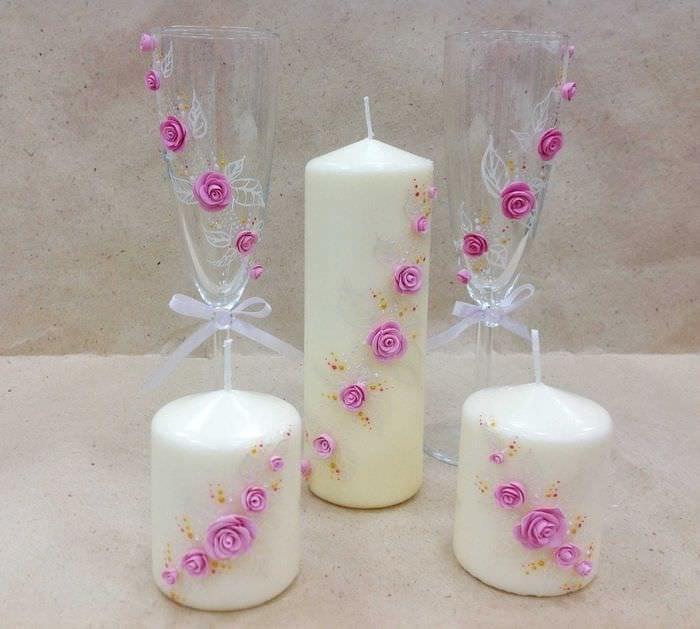 Как украсить свечи своими руками фото 638