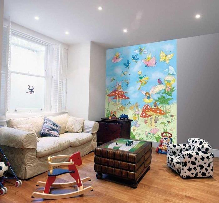 идея оригинального декора детской комнаты