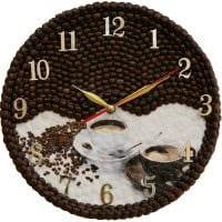 идея необычного декорирования настенных часов своими руками картинка