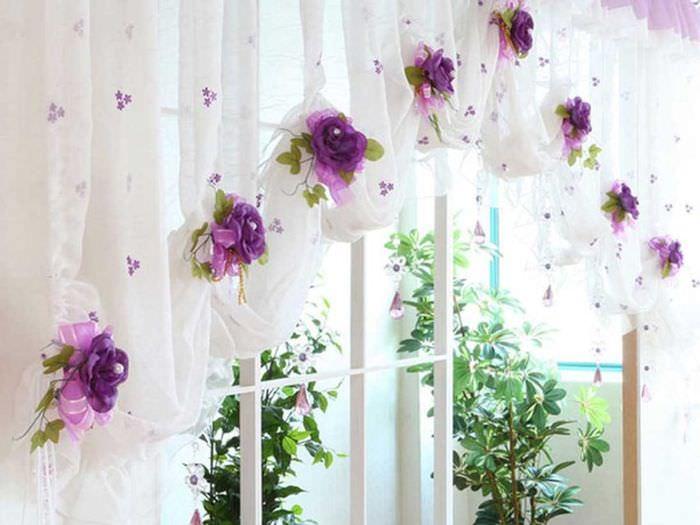 Как декорировать шторы своими руками 61