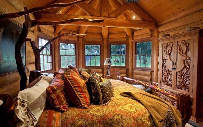 классический дизайн комнаты в стиле рустик