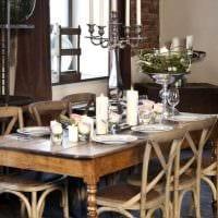 красивый декор кухни в стиле рустик картинка