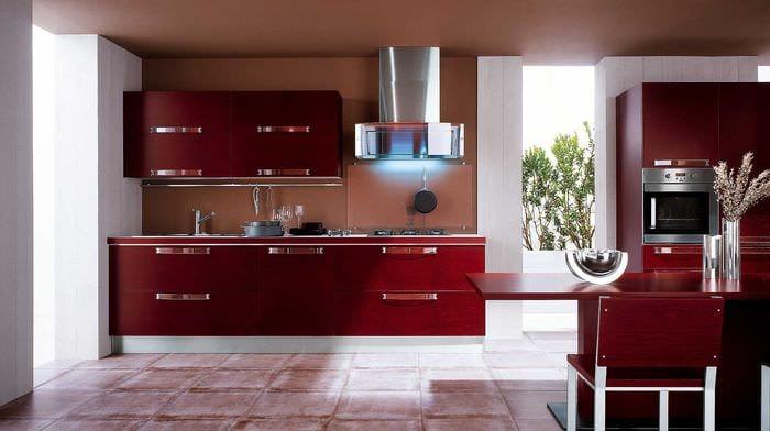 комбинирование светлых цветов в интерьере кухни