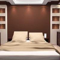 сочетание темных цветов в фасаде спальни фото