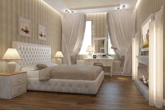 сочетание ярких цветов в декоре спальни