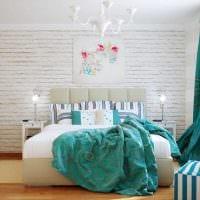 комбинирование темных цветов в декоре спальни картинка