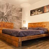 комбинирование светлых оттенков в стиле спальни картинка