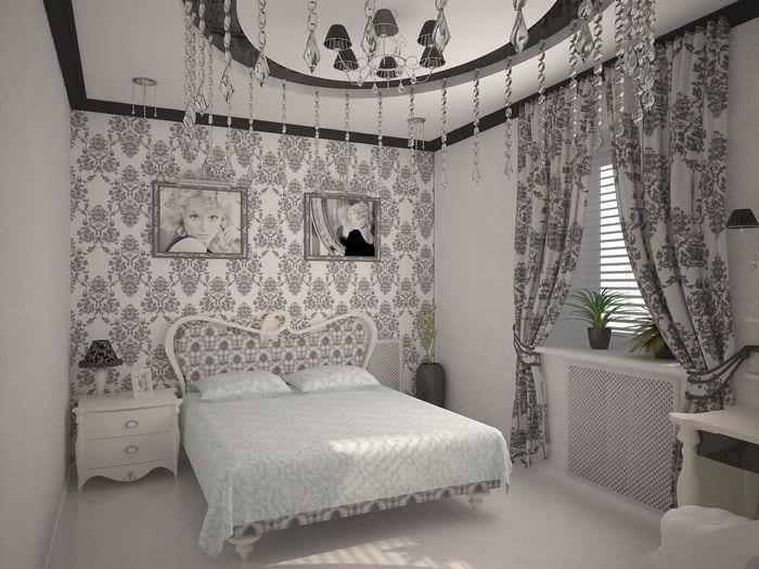 комбинирование ярких штор в интерьере комнате