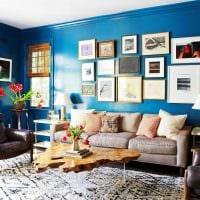 комбинирование темных цветов в стиле комнате картинка